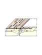 PVC profilis deformacinėms siūlėms